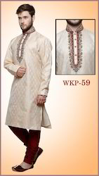 Neck Embroidered Men Kurta Pyjama