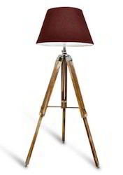 Nautical Floor Lamp - Teak Wooden Home Decorative lamp with shade