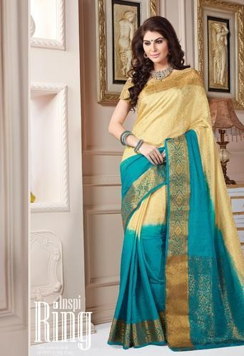 5caed7f16927ed Double Blouse Designs Net Saree at Rs 1500  piece(s)