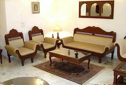 5 Seater Carved Wooden Sofa Set