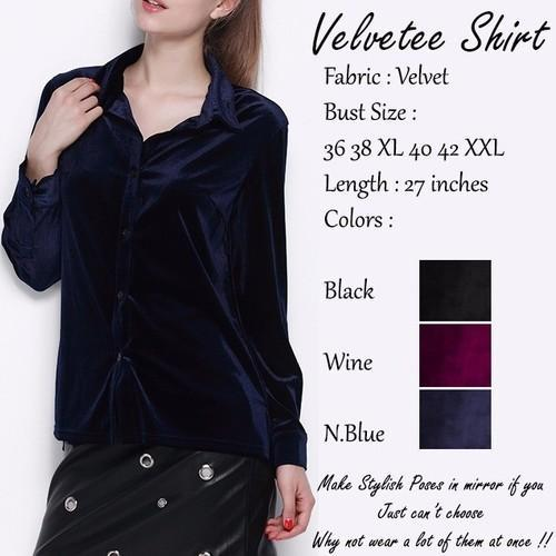 efeb05bb5b259 Navy Blue Velvetee Shirt