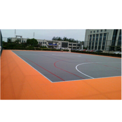 100 Sq Ft Rubber Flooring Service, Residential Building, India