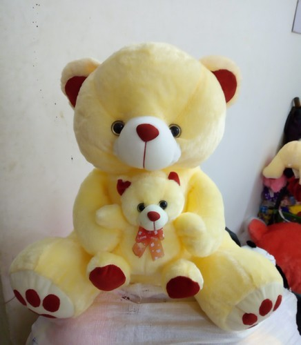 Off White Plush Mother Baby Teddy Bears Rs 400 Piece Soft Teddy Bear Id 19414733230