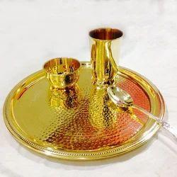 Brass Utensils Thali Set