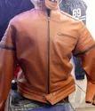 Men Tan Leather Jacket