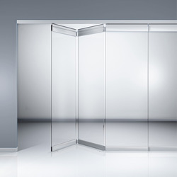 Folding Variant Sliding Glass Partition