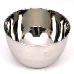 Silver Oval Stainless Steel Bowl Solution, For Hospital, Size: 85 Mm, 3.25 Inch
