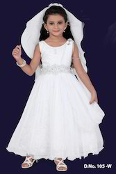 White Designer Kids Gown