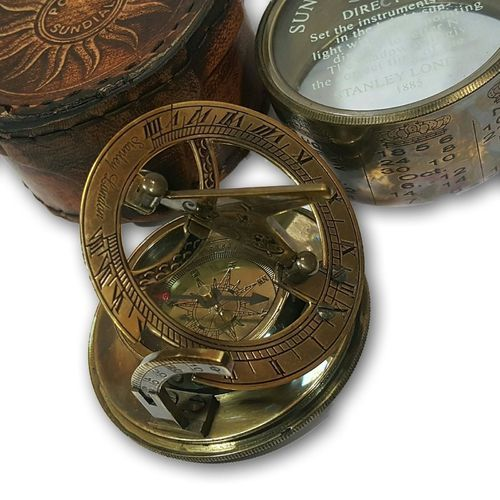 "Small Solid Brass Pocket Compass 3/"" Decorative Nautical Decor New"