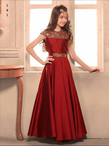 4ed4d45ca16 Top - Taffeta Silk Bottom - N A Fancy Kids Gown