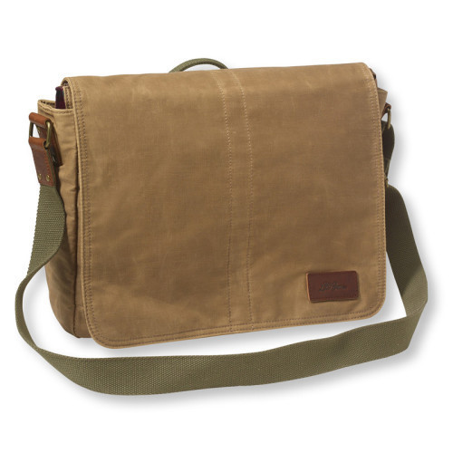 Canvas Brown Side College Bag