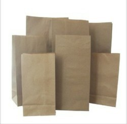 Brown And White Colour Paper Bags