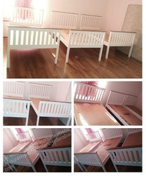 MBK Beige Single Cots Bed, Size: 6.5 X 2.9 Inch
