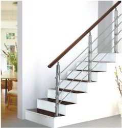 Toughened stainless Steel Wood Railing