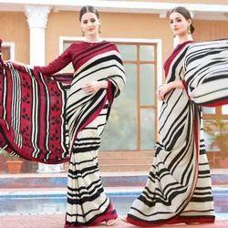 Embroidery Chiffon Saree
