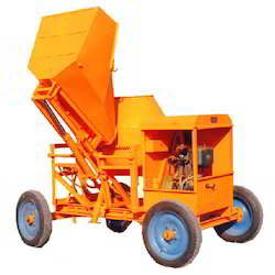Semi-Automatic Concrete Mixing Machine with Hydraulic Hopper