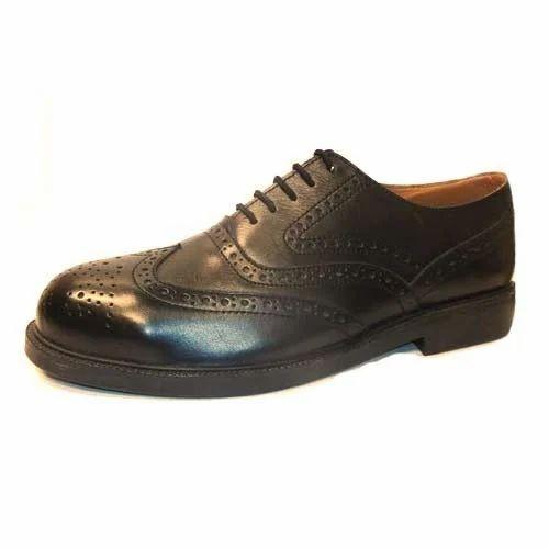Black Men Designer Safety Shoes, For