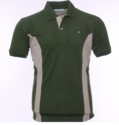 Green T Shirt With White Side Pattern