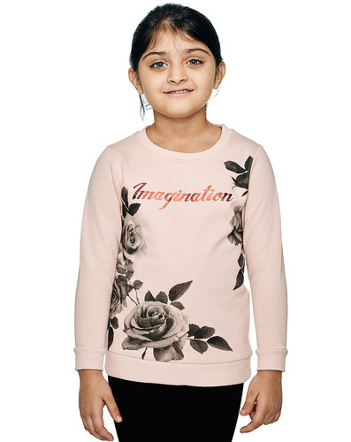 Cotton/Linen 2-3 Yrs To 10-11 Yrs Girls Sweat Live Imagination