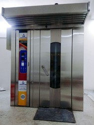 Ss,Ms Mirror Finish Rotary Rack Oven, For Breads, Packaging Type: Demanding