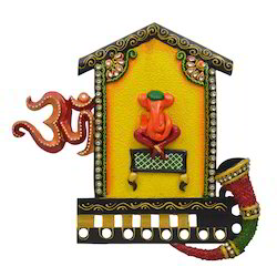 Wooden & Paper Mache Ganesha with Kundan Work