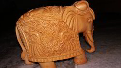 Carving Peacock Elephant