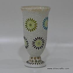 Glass Mosaic Hurricane Lamps