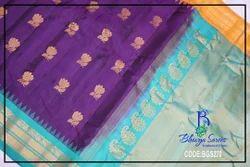 Silk Festive Wear Gadwal Saree, Construction Type: Hand
