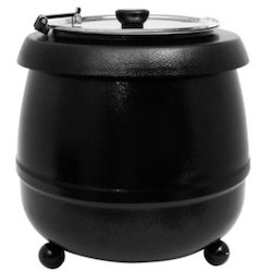Black Electric Soup Tureen, For Hotels, Restaurant & Catering