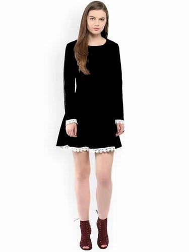 22233427df90 Read More. Women Black Rayon Dress