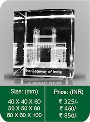 80 X 50 X 50 Mm Transparent 3D Crystal Monuments Mumbai