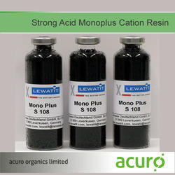 Strong Acid Monoplus Cation Resin, Pack Size: 25 Ltr, For Water Purification