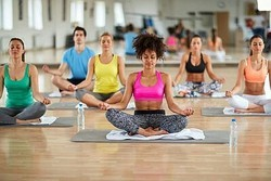 Male And Female And Yoga Classes