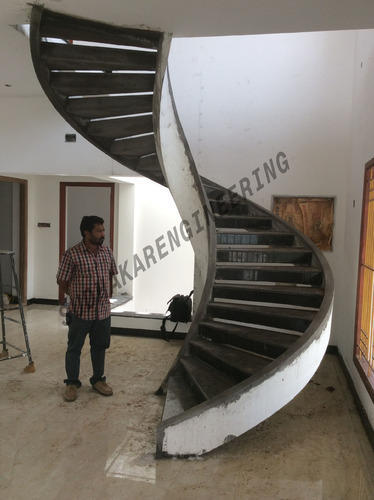 Spiral Stair Case With Concrete