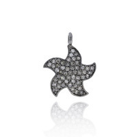 Flower Pave Diamond Charm