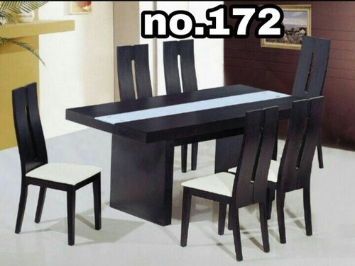 Modern 6 Seater Teakwood Dining Table Set Rs 32000 Set Noor E Hind Furniture Id 19522021862