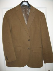 Brown Full Sleeve Mens Brown Corduroy Jacket