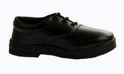 Black Men Boy School Uniform Shoes, Laces, Size: Options