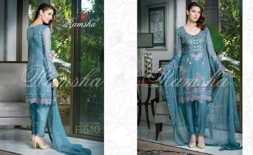 Ramsha Embroidered Chiffon Collection - Ramsha Vol5 Embroidered ...