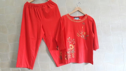 Night Suits Embroidered Women leisure Wear set