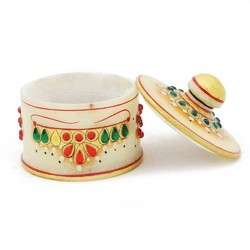 White Marble Jewelry Case  MB268