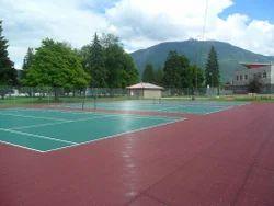 Asian Flooring Red & Green Tennis Sports Court Flooring
