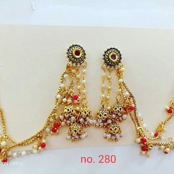 Anniversary And Wedding Golden Earrings