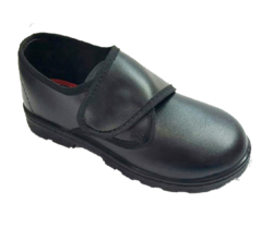 Black Formal Lehar School Shoes, Packaging Type: Box