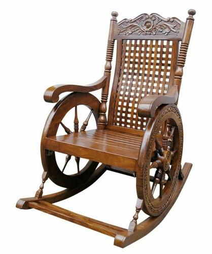 Brown Rocking Chair Rs 12000 Piece Khalid Wood Handicrafts