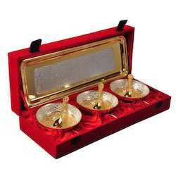 Gold Plated Bowl Set -7 Pcs