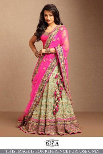 253e4a0289 Net Wedding Wear Fancy Designer Lehenga Saree, Rs 1725 /piece | ID ...