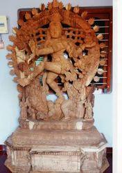 Nataraja Wooden Statue 7 Feet