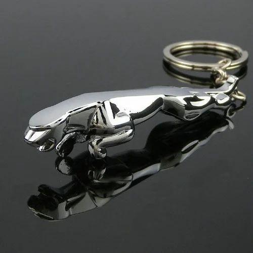 Jaguar Metallic Keychain