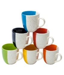Multicolor Dual Tone Cup Set